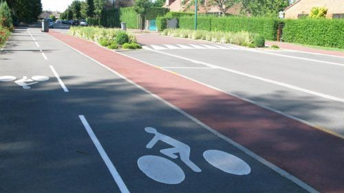 piste cyclable illustration